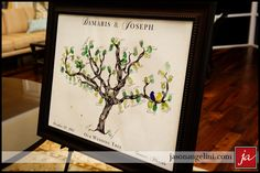 thumbprint tree for guests ~ Blessingway or Shower
