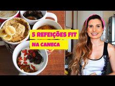 5 RECEITAS FITNESS DE CANECA DE MICROONDAS (PIZZA, MUFFIN E MUITO MAIS!) por Drika Magrafit - YouTube