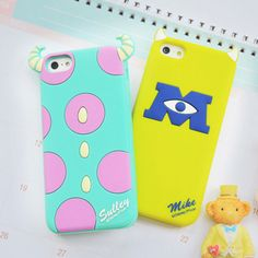 New Disney Sulley Mike soft Silicone Case rubber cover for Apple iphone 5s 4S