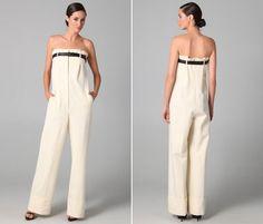 Santropeito O modelo criado pela Viktor & Rolf é único e vem acompanhado de um cinto de couro que prende a calça-blusa na altura das axilas.