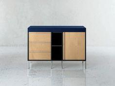 Low modular wooden office storage unit RIBBON | Office storage unit - i 4 Mariani