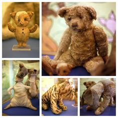 These are all the stuffed animals from A.A. Milnes son Christopher Robin's nursery. And this is how A.A. Milne came up with the rest of the Winnie the Pooh characters.