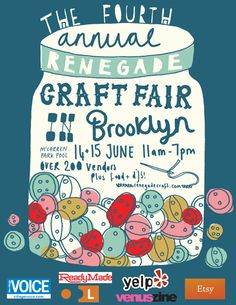 Renegade Craft Fair Flyer by Kate Sutton