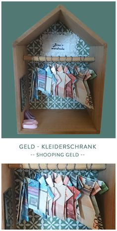 Der Geld - Kleiderschrank - Super Geldgeschenk für alle die gerne shoppen gehen.