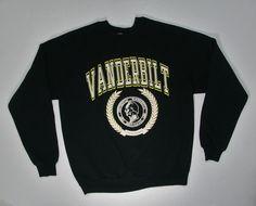 This is a very cool vintage 1980s era sweatshirt from Vanderbilt University in Tennessee - this sweatshirt is in good shape with slight wear