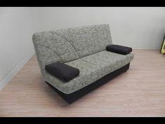 Sofa cama de fabricación nacional, con arcón. Color Arena (17103), Naranja (17104) y granate (17105) - YouTube
