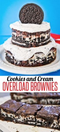 Oh my Oreos!  Cookies and cream overload brownies.  These are amazing, might be the best brownies I've ever tried!