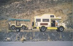 Daimler Doka Camper with Suzuki Samurai on trailer Off Road Camper, Truck Camper, Small Luxury Cars, Mercedes Truck, Adventure Campers, Expedition Vehicle, Camping, 4x4 Trucks, Rv Parks