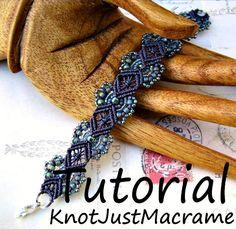 Micro Macrame Tutorial - Hydrangeas Bracelet Pattern - Beaded Macrame - Jewelry…