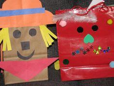 scarecrow bag for garden craft