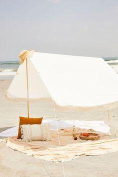 Antique White Premium Beach Tent - Business & Pleasure Co Source by gwiyoung Accessories Beach Cabana, Beach Tent, Beach Umbrella, Beach Picnic, Beach Camping, Outdoor Camping, Packing List Beach, Beach Shade, Beach Hacks