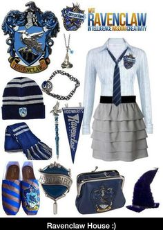 How you would dress if you were in Ravenclaw Mode Harry Potter, Harry Potter Dress, Harry Potter Decor, Harry Potter Style, Harry Potter Outfits, Harry Potter Facts, Harry Styles, Ravenclaw, Hogwarts Uniform
