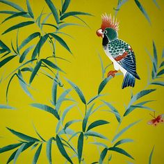 Wallpaper Love: Bamboo & Birds | The English Room