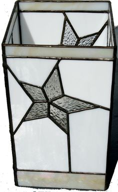 stained glass stars   Stained Glass Star Tower Lamp by June Carnell