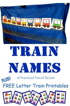 adorable trains with letters on them - free alphabet preschool printable! Also great for letter and word activities in kindergarten and elementary school!