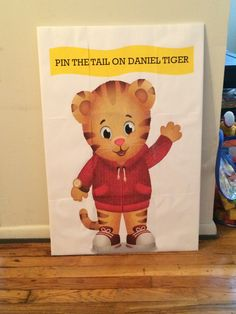 Pin the tail on Daniel Tiger Game