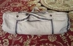 1860s traveling bag repro side view. Dressing the 1840s: 1860s Traveling Bag
