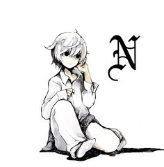Death note- Near - I love his adorable hair twirling habit.