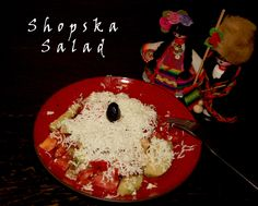 Recipe and video tutorial : Shopska Salad Shopska Salad, Bulgarian, Caprese Salad, Appetizers, Deviantart, Kitchen, Recipes, Food, Kitchens