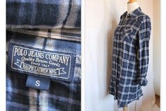 Neuf Polo Jeans Ralph Lauren Robe Chemisier Tunique À Carreaux Taille S    eBay 3c8af65f6ec