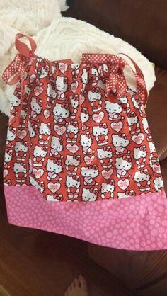 Hello Kitty pillowcase dress for Colleen