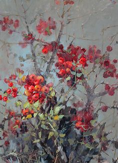 Rockwall by Ann Hardy Oil ~ 16 x 12 Oil Painting On Canvas, Painting & Drawing, Landscape Art, Landscape Paintings, Watercolor Flowers, Watercolor Art, Fruit Art, Arte Floral, Botanical Art