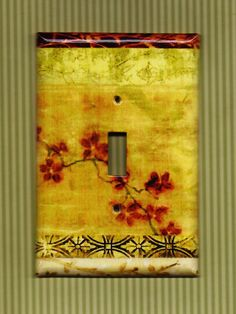 Vintage Blossom Switchplate cover. $11.00, via Etsy.