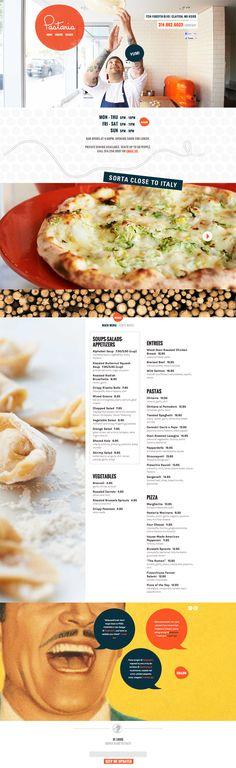 Pastaria, St. Louis / Restaurant Design / Web Design