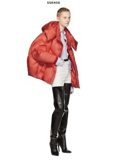 CHENPENG 17AW Red Puffer Jacket, Available at SSENSE.com & www.chen-peng.com