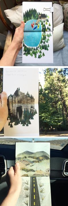 (43) Clover Robin's Charming Travel Collages Showcase the Pacific Northwest