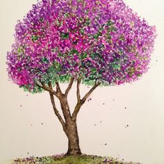 Quaresmeira, árvore 17, aquarela / Brazilian tree, 17, watercolor, 40treesprojetc, Adriana Galindo
