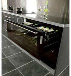 integrated wine fridge.
