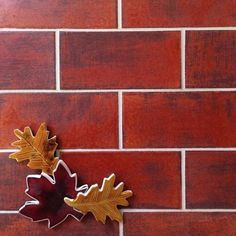 "Warm hues can make all the difference! 3""x6"" Subway Tile - 104 Fireluster #101WaysToUseSubwayTile"