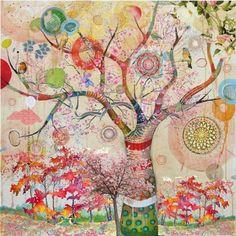 J'adore les peintures d'arbres de la vie, magiques et pleins de couleurs