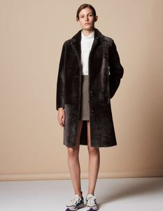 Sheepskin coat with