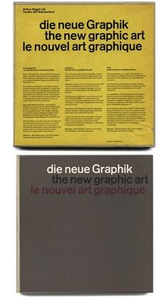 New Graphic Art  Gerstner & Kutter Niggli 1959
