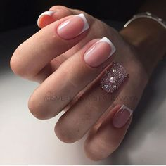 This Year's Dazzling French Manicure Fads in 24 Photos - So Crafty Fabulous Nails, Gorgeous Nails, Love Nails, Pink Nails, Pretty Nails, Shellac Nails, Nail Manicure, Classy Nails, Simple Nails