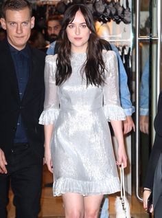 Dakota leaving the Intimissimi Boutique Opening in NYC (Oct. 18th) Cr. @DakotaJLife Twitter