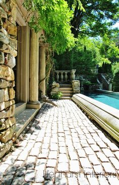 pool at Michael Trapp's Connecticut home