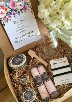 2 bridesmaids proposal kits DIY KITS by BellaLaceCreations on Etsy