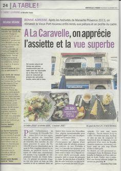 MARSEILLE L'HEBDO janvier 2013 Bar Restaurant La Caravelle Marseille www.lacaravelle-marseille.com