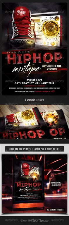 Hip Hop Mixtape Flyer Template