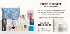 Nordstrom: Free 19 pcs gift w/$100 purchase + $10 Note + more