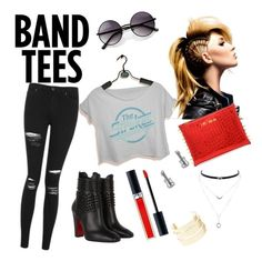 """#thestrokes"" by gabrielamilenk on Polyvore featuring Christian Louboutin, Jessica Simpson, ZeroUV, Charlotte Russe, Christian Dior, Topshop and Thomas Sabo"