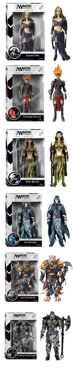 Finally! Action Figures for Magic: The Gathering It seems hard to believe, but official Magic: The Gathering action figures haven't been released in over ten years. Hasbro had the license at one point, but now Funko has the reins. They've already teased their line of 6-inch figures along with Pop! versions of the Planeswalker characters, but this is the first close look we've got at the packaging and the individual toys.