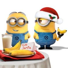 Some may just see minions but I see proof that the minions know Santa is a Time Lord. :)