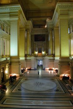 The entrance hall of the Palace of Justice, Brussels Belgium