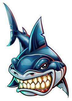 Shark Temporary Tattoo - Boy Laser Foil Tattoos