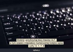 Jak wpisać stopień na klawiaturze? - Wciśnij i przytrzymaj lewy klawisz ALT, w… The More You Know, Computer Keyboard, Wi Fi, Computers, Life Hacks, Android, Internet, Education, Computer Keypad
