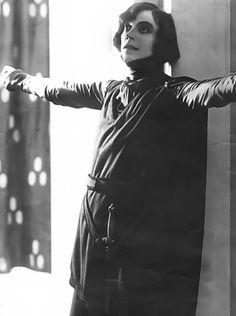 Actress Asta Nielsen. Hamlet, 1921.